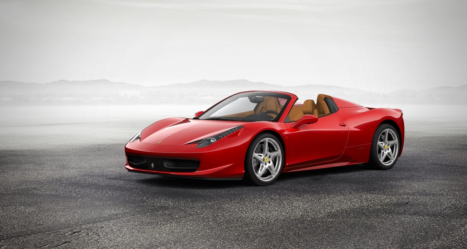 Location Ferrari 458 Spider | Deluxe Rental Cars Lausanne