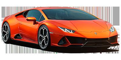 Lamborghini Huracan Evo rental at Deluxe Rental Cars