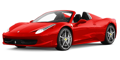 Location Ferrari 458 Spider chez Deluxe Rental Cars