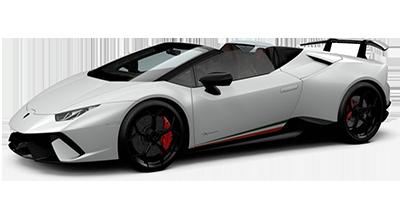 Noleggia Lamborghini Huracan Spyder in auto a noleggio di lusso